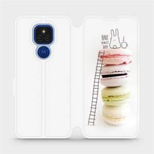 Flipové pouzdro Mobiwear na mobil Motorola Moto E7 Plus - M090P Makronky - have a nice day