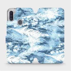 Flipové pouzdro Mobiwear na mobil Samsung Galaxy M11 - M058S Světle modrá horizontální pírka