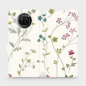 Flipové pouzdro Mobiwear na mobil Xiaomi MI 10T Lite - MD03S Tenké rostlinky s květy