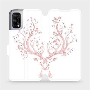 Flipové pouzdro Mobiwear na mobil Realme 7 5G - M007S Růžový jelínek