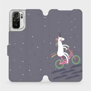 Flipové pouzdro Mobiwear na mobil Xiaomi Redmi Note 10S - V024P Jednorožec na kole