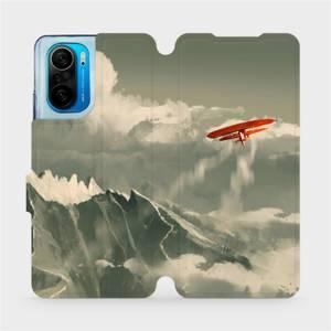 Flipové pouzdro Mobiwear na mobil Xiaomi Mi 11i / Xiaomi Poco F3 - MA03P Oranžové letadlo v horách