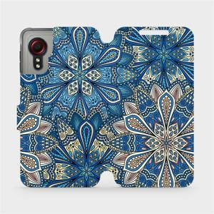 Flipové pouzdro Mobiwear na mobil Samsung Galaxy Xcover 5 - V108P Modré mandala květy