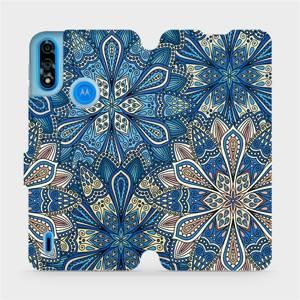 Flipové pouzdro Mobiwear na mobil Motorola Moto E7 Power - V108P Modré mandala květy