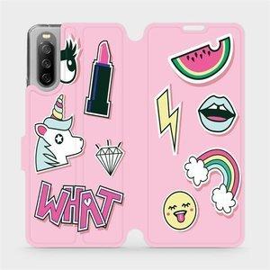 Flip pouzdro Mobiwear na mobil Sony Xperia 10 III - M129S Růžové WHAT