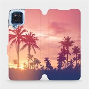 Flipové pouzdro Mobiwear na mobil Samsung Galaxy M12 - M134P Palmy a růžová obloha