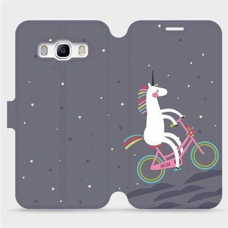 Flipové pouzdro Mobiwear na mobil Samsung Galaxy J5 2016 - V024P Jednorožec na kole