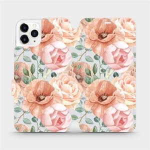 Flip pouzdro Mobiwear na mobil Apple iPhone 11 Pro Max - MP02S Pastelové květy