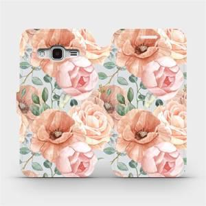 Flip pouzdro Mobiwear na mobil Samsung Galaxy J3 2016 - MP02S Pastelové květy