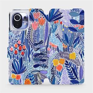 Flip pouzdro Mobiwear na mobil Xiaomi Mi 11 - MP03P Modrá květena
