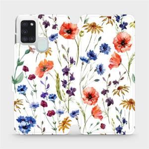 Flip pouzdro Mobiwear na mobil Samsung Galaxy A21S - MP04S Luční kvítí