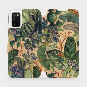 Flip pouzdro Mobiwear na mobil Samsung Galaxy A02S - VP05S Sukulenty