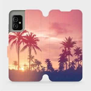 Flip pouzdro Mobiwear na mobil Asus Zenfone 8 - M134P Palmy a růžová obloha