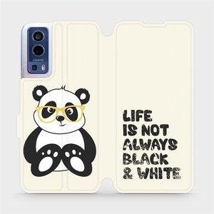 Flip pouzdro Mobiwear na mobil Vivo Y72 5G / Vivo Y52 5G - M041S Panda - life is not always black and white