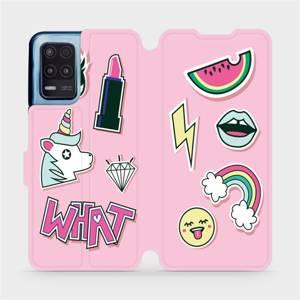 Flip pouzdro Mobiwear na mobil Realme 8 5G - M129S Růžové WHAT