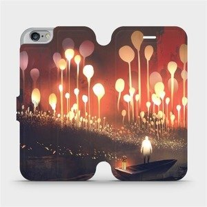Flipové pouzdro Mobiwear na mobil Apple iPhone 6 / iPhone 6s - VA01S Lampiony a muž v lodičce