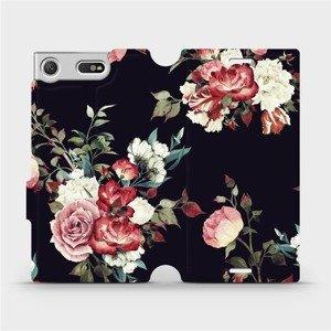 Flipové pouzdro Mobiwear na mobil Sony Xperia XZ1 Compact - VD11P Růže na černé