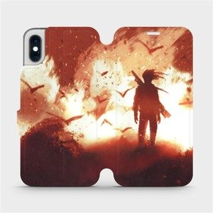 Flipové pouzdro Mobiwear na mobil Apple iPhone XS - MA06S Postava v ohni