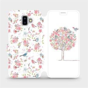 Flipové pouzdro Mobiwear na mobil Samsung Galaxy J6 Plus 2018 - M120S Strom a ptáčci