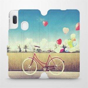 Flipové pouzdro Mobiwear na mobil Samsung Galaxy A20e - M133P Kolo a balónky