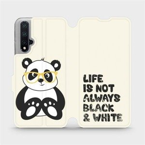 Flipové pouzdro Mobiwear na mobil Honor 20 - M041S Panda - life is not always black and white
