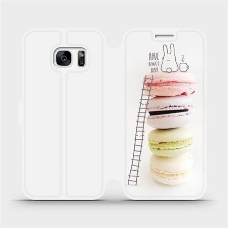 Flipové pouzdro Mobiwear na mobil Samsung Galaxy S7 - M090P Makronky - have a nice day
