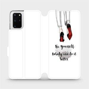 Flipové pouzdro Mobiwear na mobil Samsung Galaxy S20 Plus - M046P Be yourself