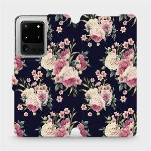 Flipové pouzdro Mobiwear na mobil Samsung Galaxy S20 Ultra - V068P Růžičky