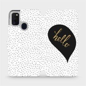 Flipové pouzdro Mobiwear na mobil Samsung Galaxy M21 - M013P Golden hello