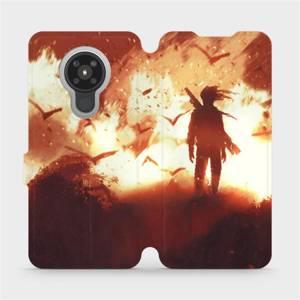 Flipové pouzdro Mobiwear na mobil Nokia 5.3 - MA06S Postava v ohni