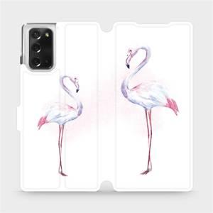 Flipové pouzdro Mobiwear na mobil Samsung Galaxy Note 20 - M005S Plameňáci
