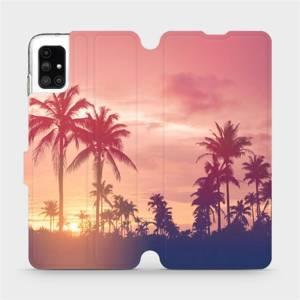 Flipové pouzdro Mobiwear na mobil Samsung Galaxy M51 - M134P Palmy a růžová obloha