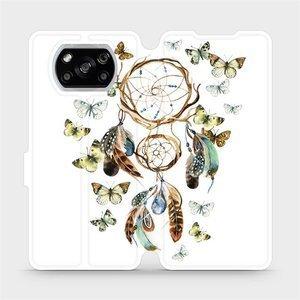 Flipové pouzdro Mobiwear na mobil Xiaomi POCO X3 NFC - M001P Lapač a motýlci