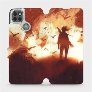Flipové pouzdro Mobiwear na mobil Motorola Moto G9 Power - MA06S Postava v ohni