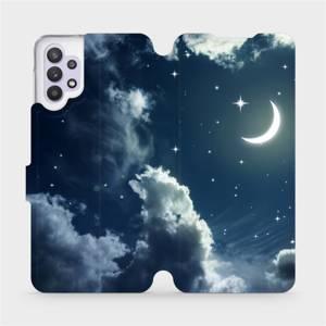 Flipové pouzdro Mobiwear na mobil Samsung Galaxy A32 5G - V145P Noční obloha s měsícem - výprodej