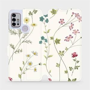 Flipové pouzdro Mobiwear na mobil Motorola Moto G10 - MD03S Tenké rostlinky s květy