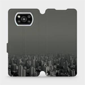 Flipové pouzdro Mobiwear na mobil Xiaomi Poco X3 Pro - V063P Město v šedém hávu