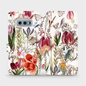 Flip pouzdro Mobiwear na mobil Samsung Galaxy S10e - MP01S Rozkvetlá louka
