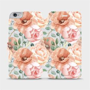 Flip pouzdro Mobiwear na mobil Apple iPhone 6s Plus / iPhone 6 Plus - MP02S Pastelové květy