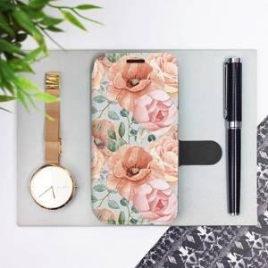 Flip pouzdro Mobiwear na mobil Samsung Galaxy M11 - MP02S Pastelové květy