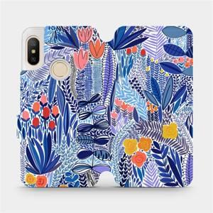 Flip pouzdro Mobiwear na mobil Xiaomi Mi A2 Lite - MP03P Modrá květena