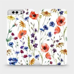 Flip pouzdro Mobiwear na mobil Huawei P10 - MP04S Luční kvítí