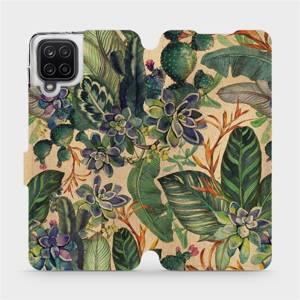 Flip pouzdro Mobiwear na mobil Samsung Galaxy A12 - VP05S Sukulenty