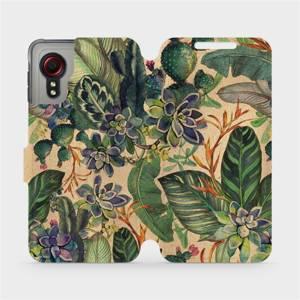 Flip pouzdro Mobiwear na mobil Samsung Galaxy Xcover 5 - VP05S Sukulenty