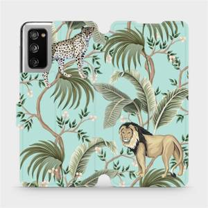 Flip pouzdro Mobiwear na mobil Samsung Galaxy S20 FE - MP08S Dvě kočičky