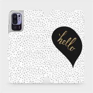 Flip pouzdro Mobiwear na mobil Xiaomi Redmi Note 10 5G - M013P Golden hello