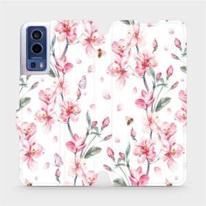 Flip pouzdro Mobiwear na mobil Vivo Y72 5G / Vivo Y52 5G - M124S Růžové květy