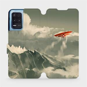 Flip pouzdro Mobiwear na mobil Realme 8 5G - MA03P Oranžové letadlo v horách