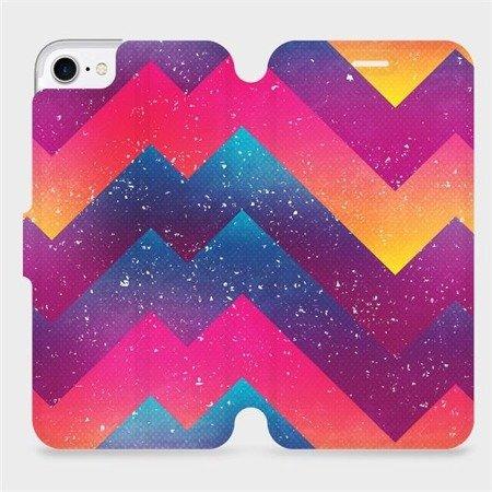 Flipové pouzdro Mobiwear na mobil Apple iPhone 8 - V110S Barevné klikyháky