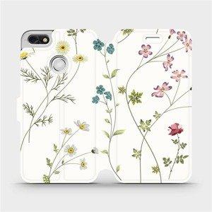 Flipové pouzdro Mobiwear na mobil Huawei P9 Lite mini - MD03S Tenké rostlinky s květy